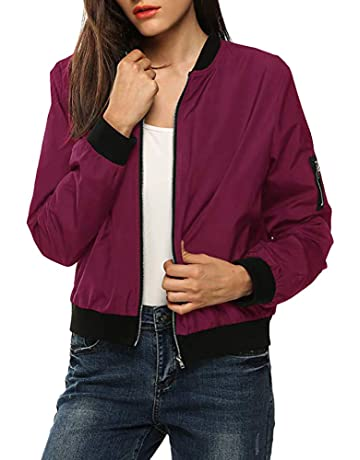 7ae1e47aba5 iYYVV Womens Classic Quilted Jacket Short Bomber Jacket Outdoor Slim fit  Coat