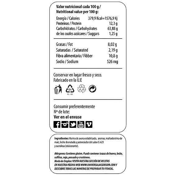 Max Protein Fitmeal Harina de Avena Dulce y Salado - 2000 gr: Amazon.es: Salud y cuidado personal