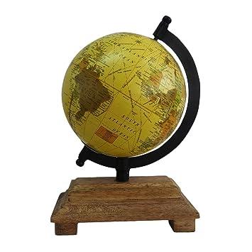Indian Globus Geschenk Vintage Stil Antike Beige Wohnkultur Holz Stehen Weltkarte Dekorative Zwecke