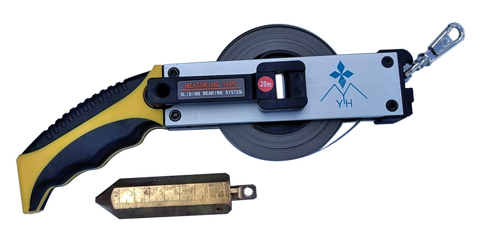 Oil Gauging Tape 66' / 20m Stainless Steel Includes Plumb Bob Us Standard and Metric Measurements