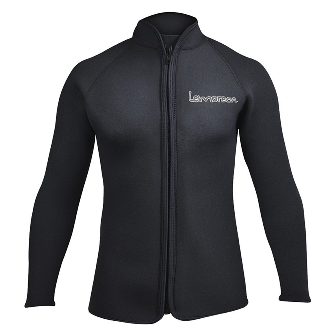 Lemorecn Adult's 3mm Wetsuits Jacket Long Sleeve Neoprene Wetsuits Top US Size (2031black-3XL) by Lemorecn