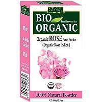 Indus Valley 100% Organic Rose Petals Powder, 100 gm