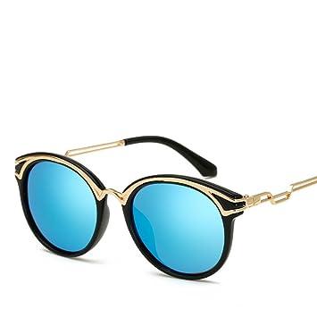 Die Neue Metall Europa Mode Farbfilm Frau Sonnenbrille,A1