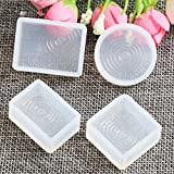 DOUBLE ONE 4 Desings Water Ripple Silicone Jewelry Pendant Mold Casting Mould Jewelry Making DIY Craft Tool