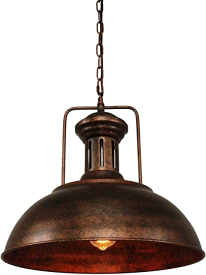Puzhi Home Pendant Lighting Industrial Kitchen Island Pendant Lighting Nautical Barn Pendant Light Single With Rustic Dome Bowl Shape Mounted Fixture Ceiling Lamp Chandelier Amazon Com