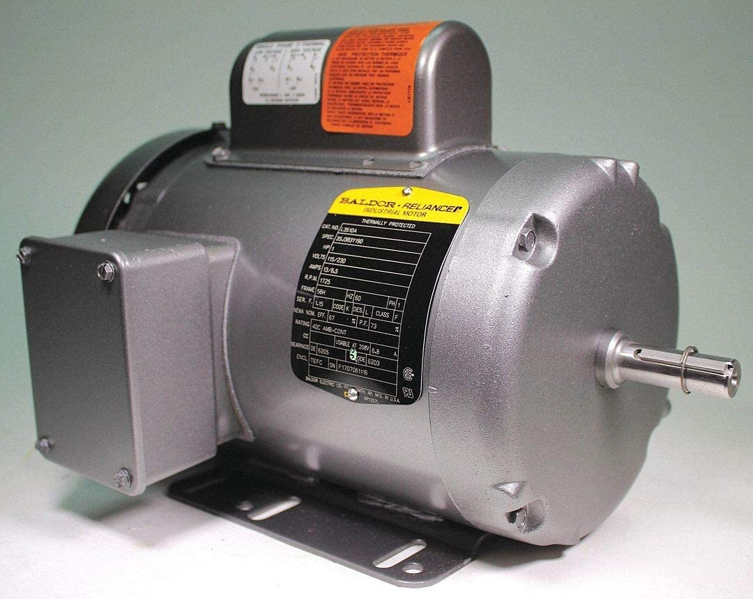 baldor electric motor 5 capacitor wiring 3 capacitor 5 hp baldor electric l3510a motor 1 hp 1725 rpm 115 230v 56 56h tefc  hp 1725 rpm 115 230v 56 56h tefc