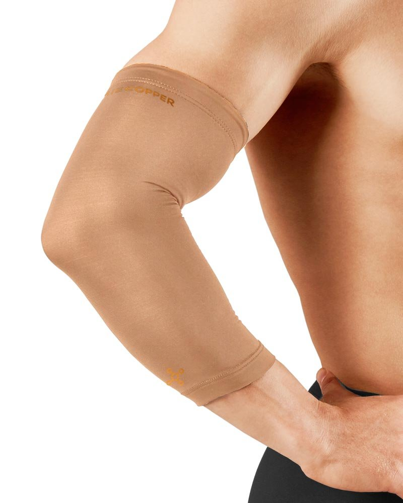 Tommie Copper Men's Recovery Vantage Elbow Sleeve, Nude, Large