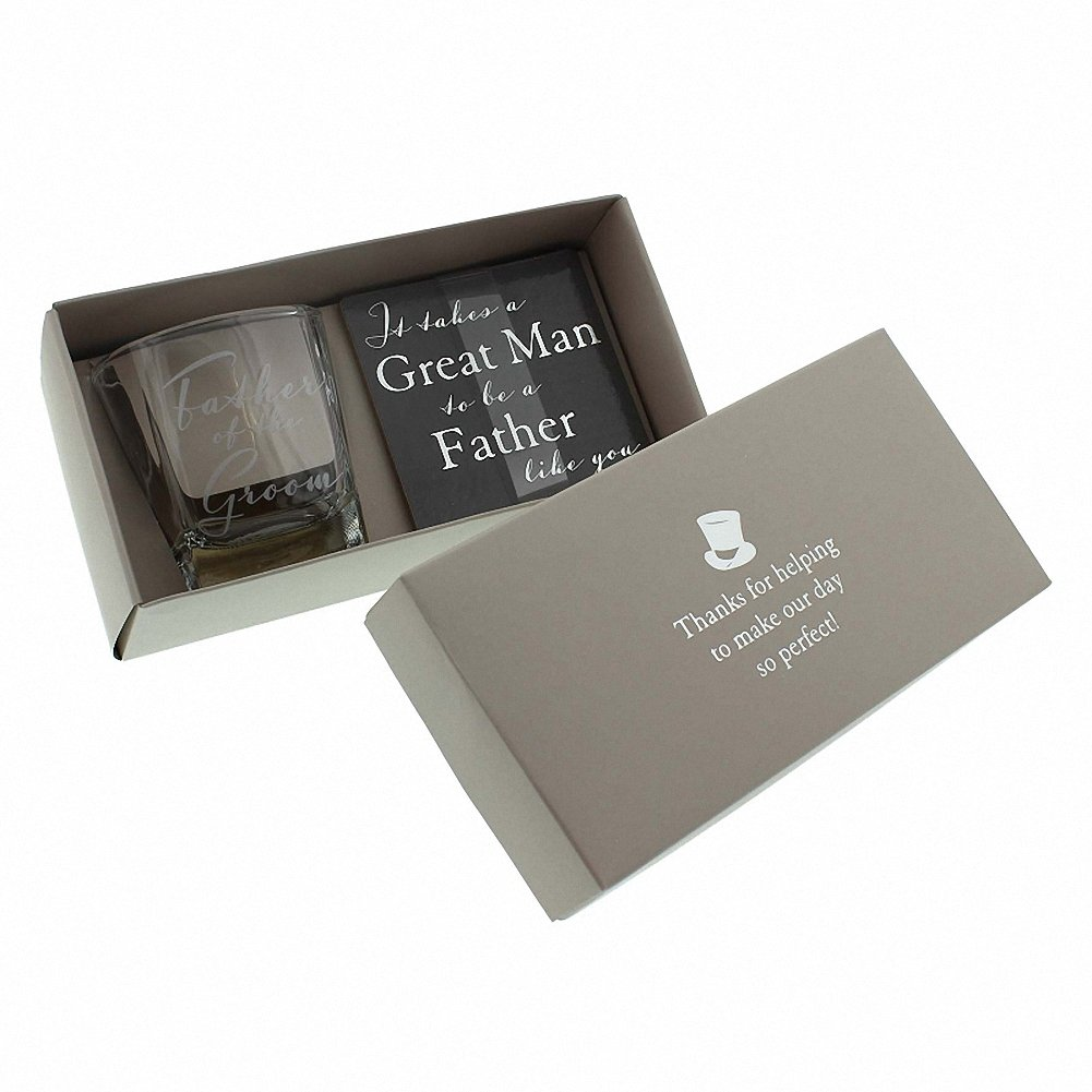 Amore by Juliana Whisky Glass & Coaster Father of the Groom Wedding Set WG572 Sole Favours TRTAZ11A