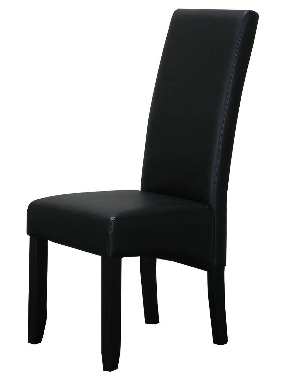 Dynamic24 4X Esszimmerstuhl Kunstleder Küchen Stühle Esszimmer Stuhl Stühle Küchen Küchenstuhl Schwarz 82240a