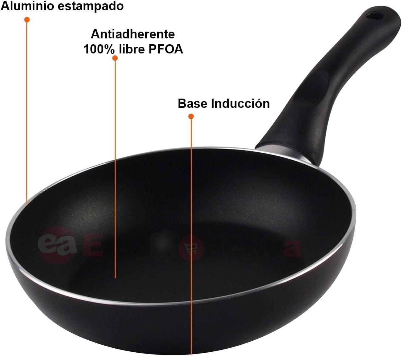 gas. Set Juego 3 Sartenes 20-24-28 cm aluminio Magefesa Vitral inducci/ón vitroceramica antiadherente libre de PFOA limpieza lavavajillas apta para todas las cocinas