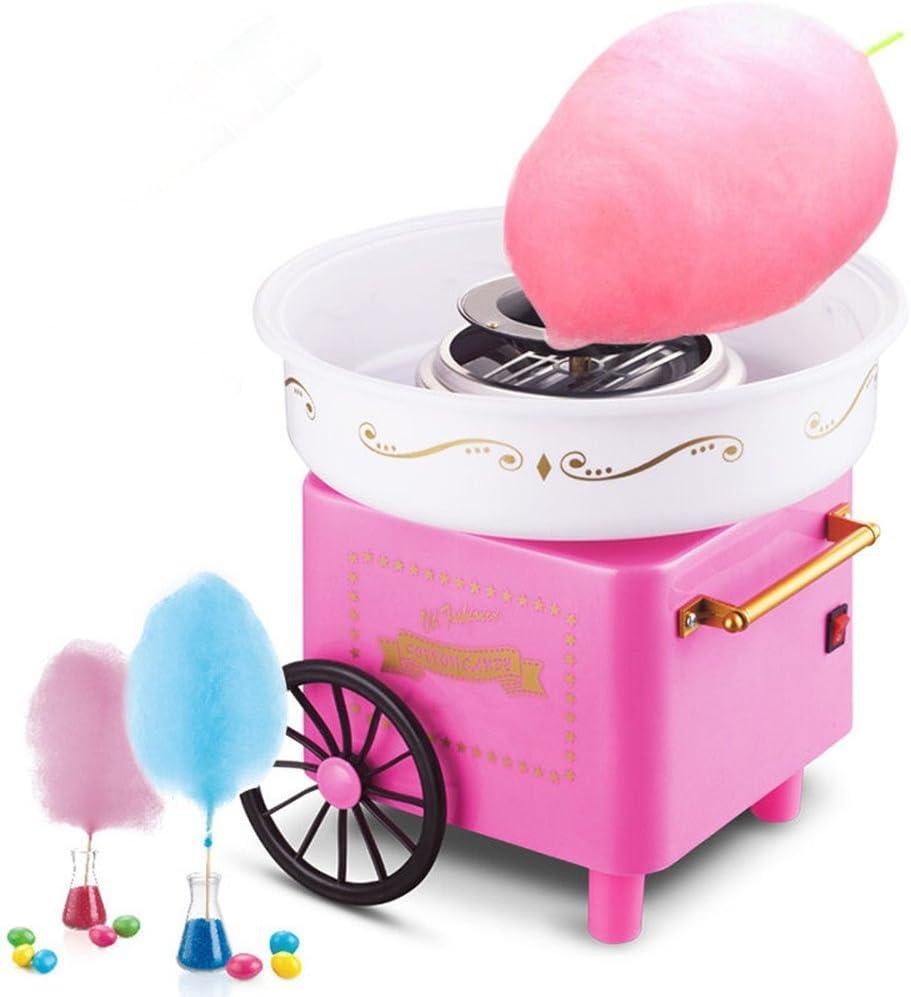 Turefans Máquina de algodón de azúcar, Mini, 500W, Estilo Retro,Rosa: Amazon.es: Hogar