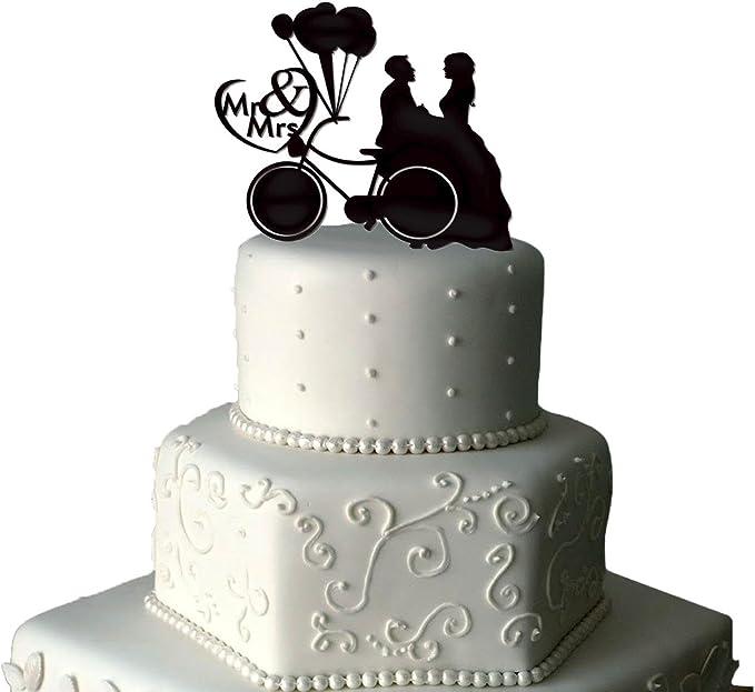 Decoración para tarta para globos | tarta de Boda Decoración para tarta para decoración para bicicleta | Bike | Señor y señora decoración para tarta para bicicleta | Señor y señora decoración