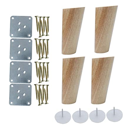 Peachy Uxcell 5 Inch Wood Furniture Legs Sofa Couch Chair Table Desk Closet Cabinet Bench Oblique Feet Replacement 4Pcs Wood Color Complete Home Design Collection Epsylindsey Bellcom