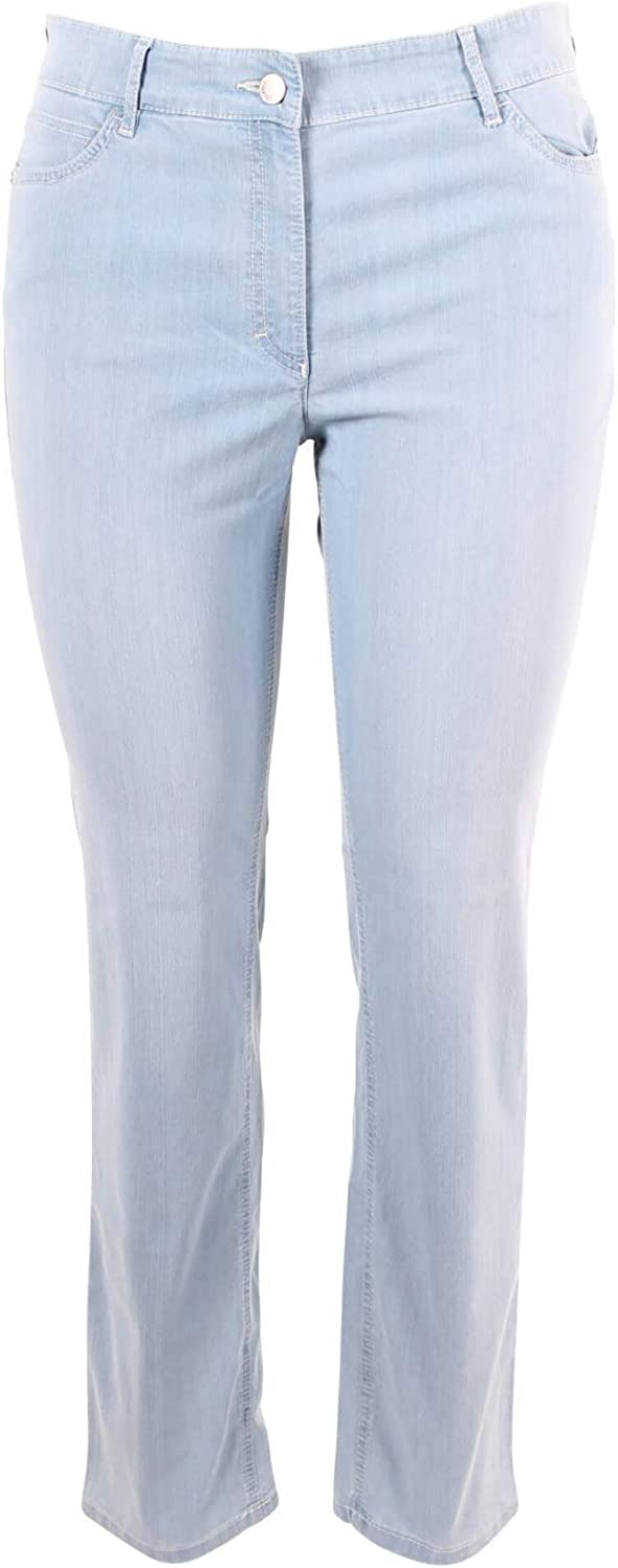 Zerres Damen Jeans CORA Straight Fit Bleached