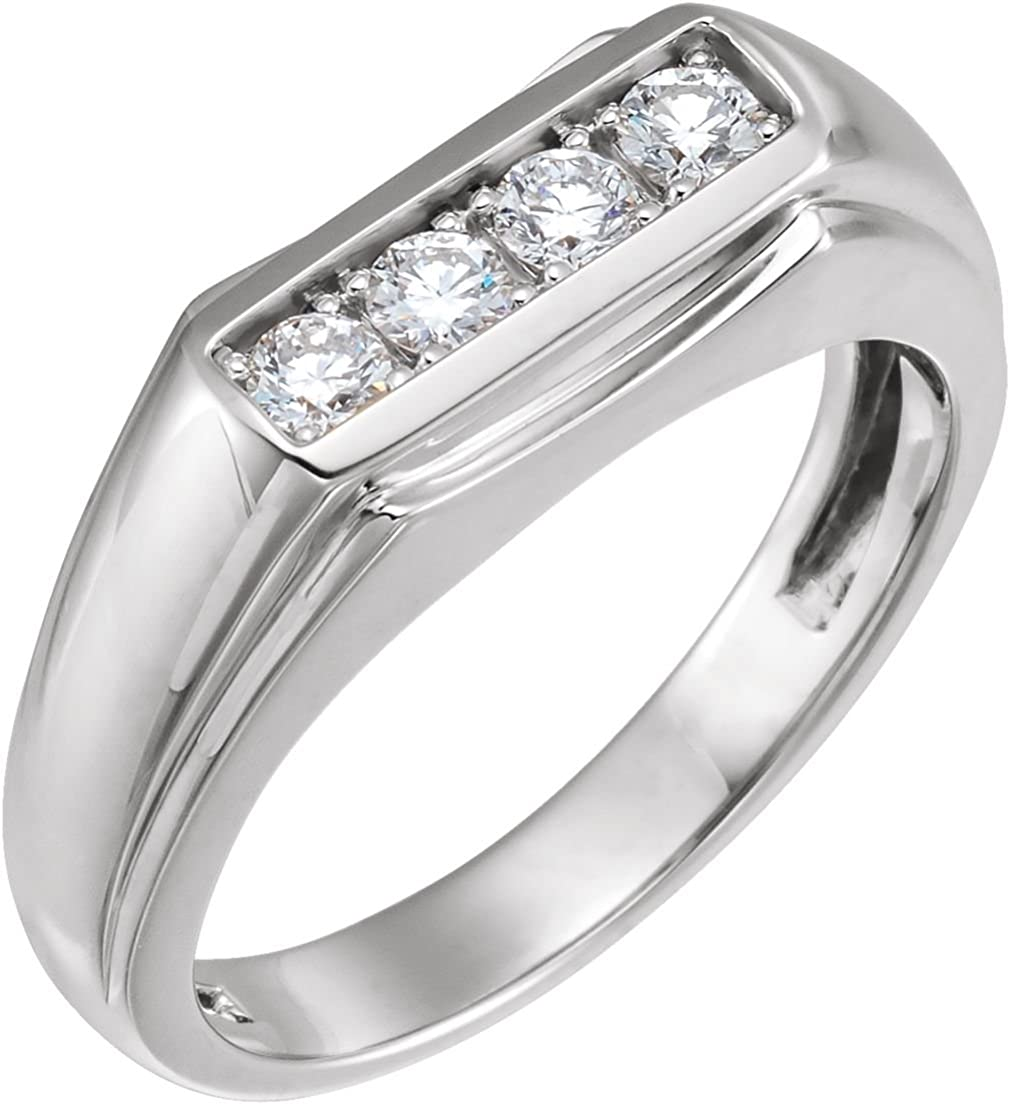 Top 10 Jewelry Gift Sterling Silver Rhodium Plated Diamond Mens Ring