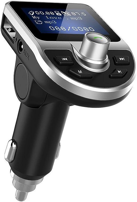 Victsing Wireless Bluetooth Car FM Transmitter  MP3 Player Radio LCD USB Charger
