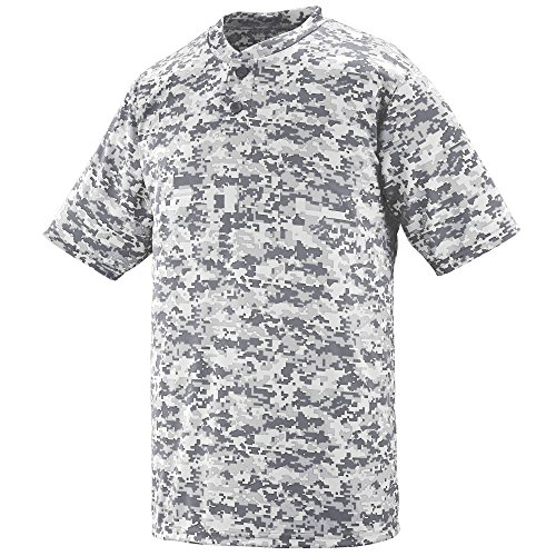 UPC 784371659486, Augusta Sportswear MEN'S DIGI CAMO WICKING TWO-BUTTON JERSEY L White Digi