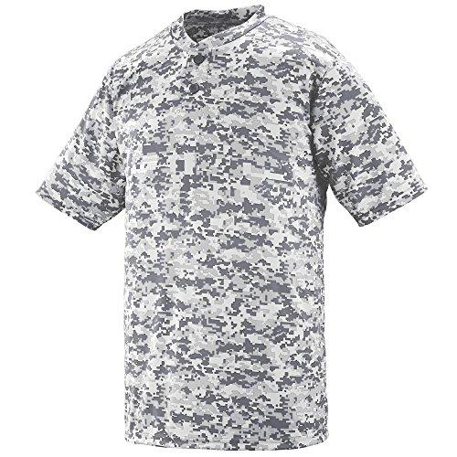 (Augusta Sportswear Men's DIGI CAMO Wicking Two-Button Jersey S White Digi)