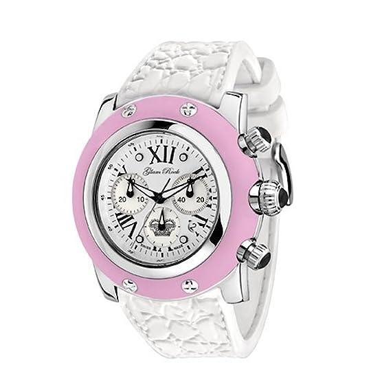 Glam Rock de las mujeres gr30108rw verano colección Cronógrafo correa de silicona color rosa