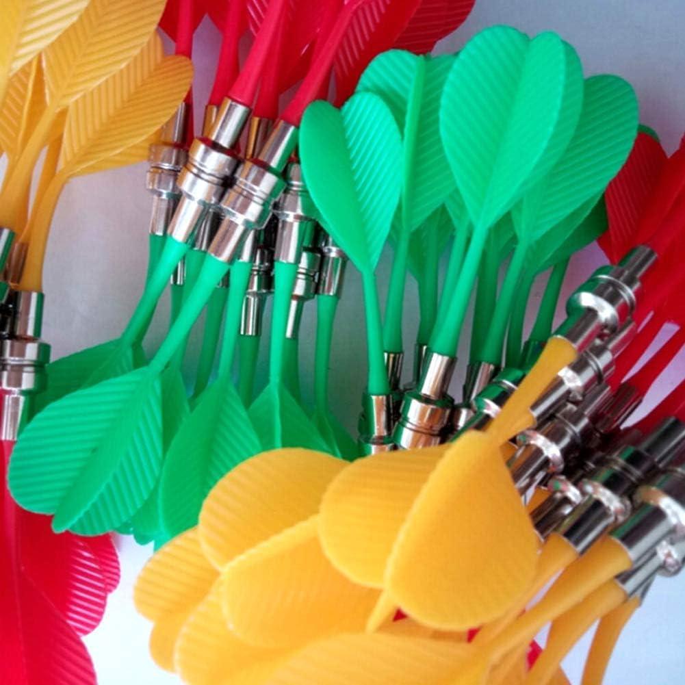 Liamostee Lot de 10 fl/échettes magn/étiques de Rechange en Plastique pour Cible de fl/échettes