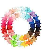 Blinst 20 Colors New Alligator Clips Girls Bow Ribbon Kids Sides Accessories Hair Clip