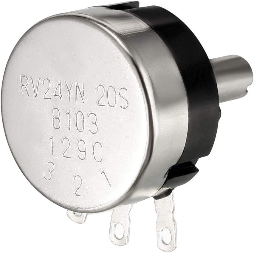 uxcell RV24YN20S 10K Ohm Variable Resistors Single Turn Rotary Carbon Film Potentiometer 2pcs
