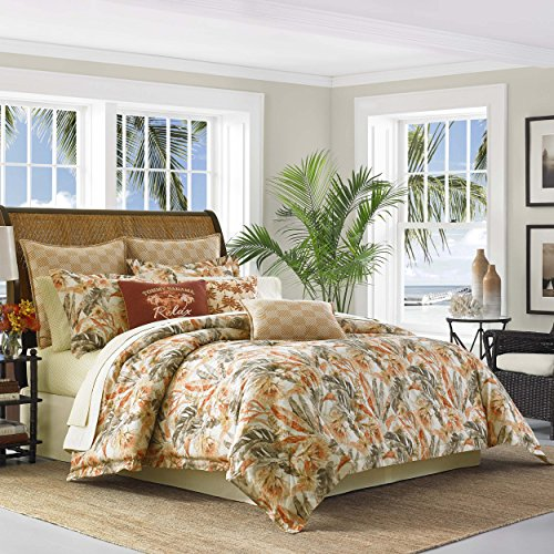 Tommy Bahama Kamari Comforter Set, King, Medium Orange