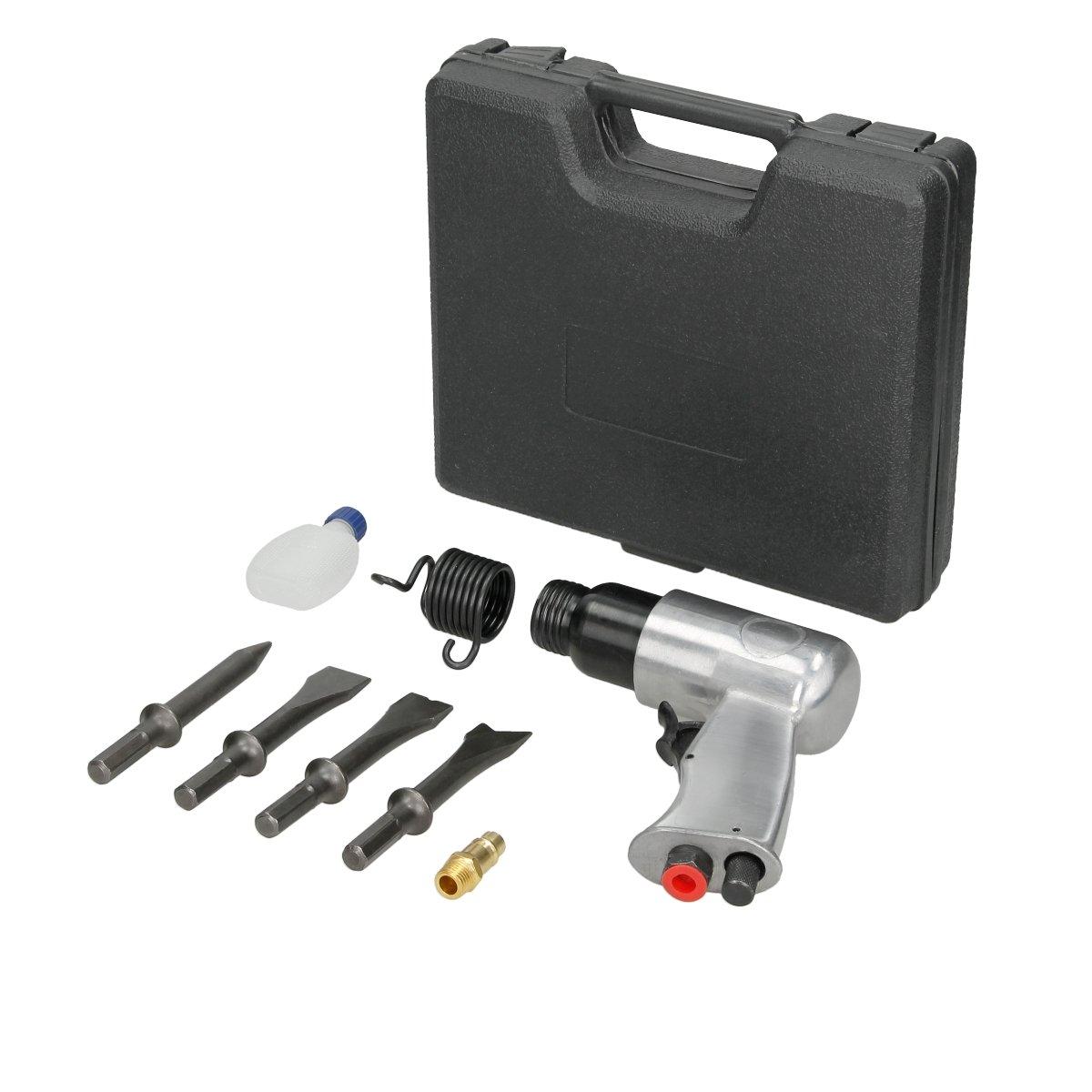ECD Germany Martillo cincelador neum/ático 6 Bar 150 l//min con 4 Cinceles para diferentes aplicaciones