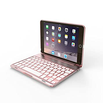 IPad Mini 4 Keyboard Case, Teepao F8SMini+ 7-color: Amazon