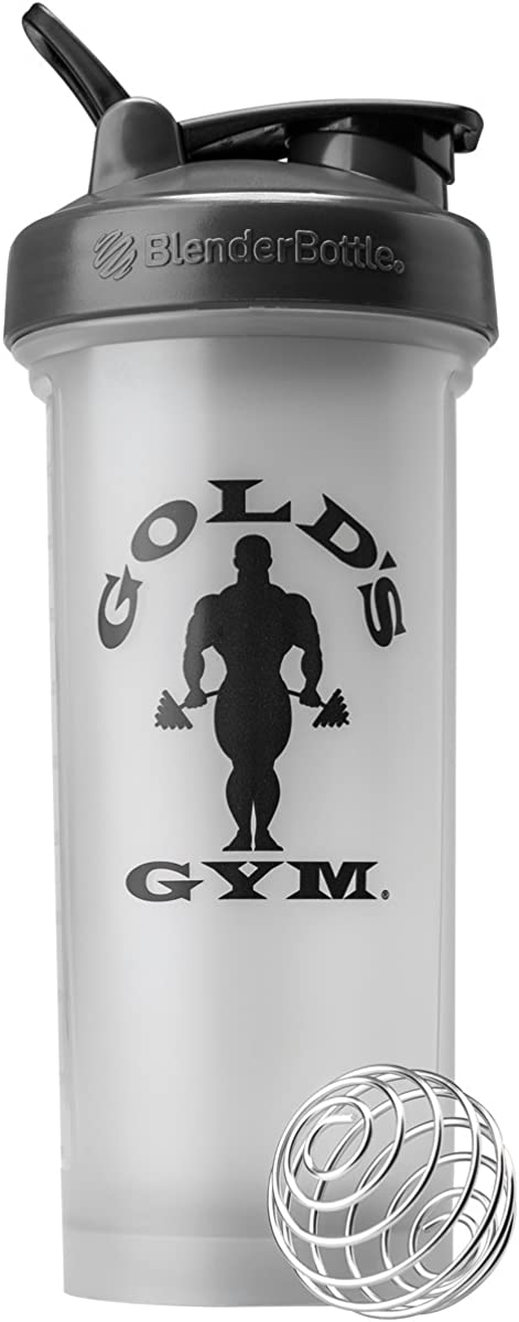 Blender Bottle Gold's Gym Pro 45 oz. Shaker Bottle with Loop Top - Gray/Black