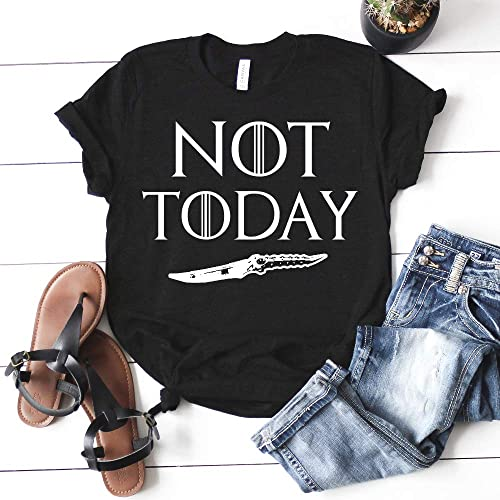 b25bcf43 Image Unavailable. Image not available for. Color: Not Today Arya Stark Game  of Thrones T-shirt ...
