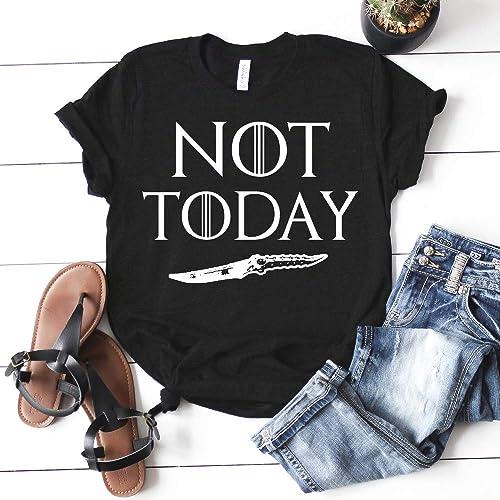 e6b156a22 Amazon.com: Not Today Arya Stark Game of Thrones T-shirt Unisex ...
