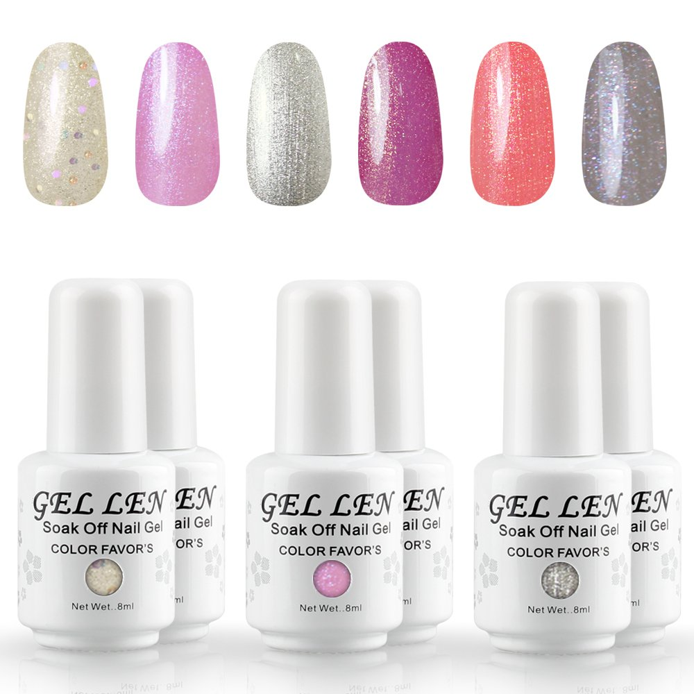 Gellen Soak Off Gel Nail Polish - Soak Off Long Lasting Gel Varnish #8 Guang Zhou Himatt