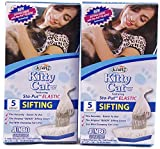 Alfapet Kitty Cat Sta-put Elastic Sifting Litter Box Liners Jumbo Size 5 Count (2-Pack/Boxes)
