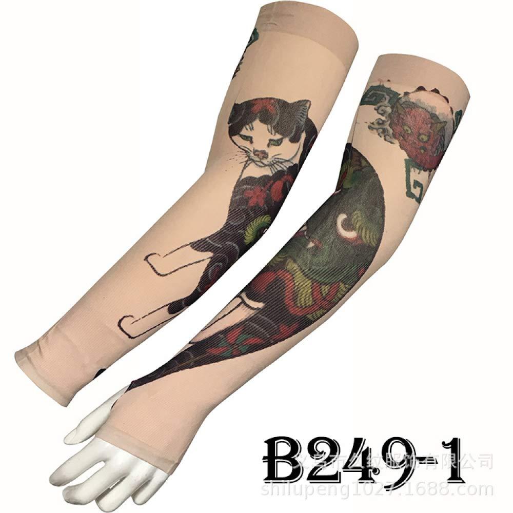 tzxdbh Desert Jungle Camouflage Tattoo Manga de Hielo Seda de ...