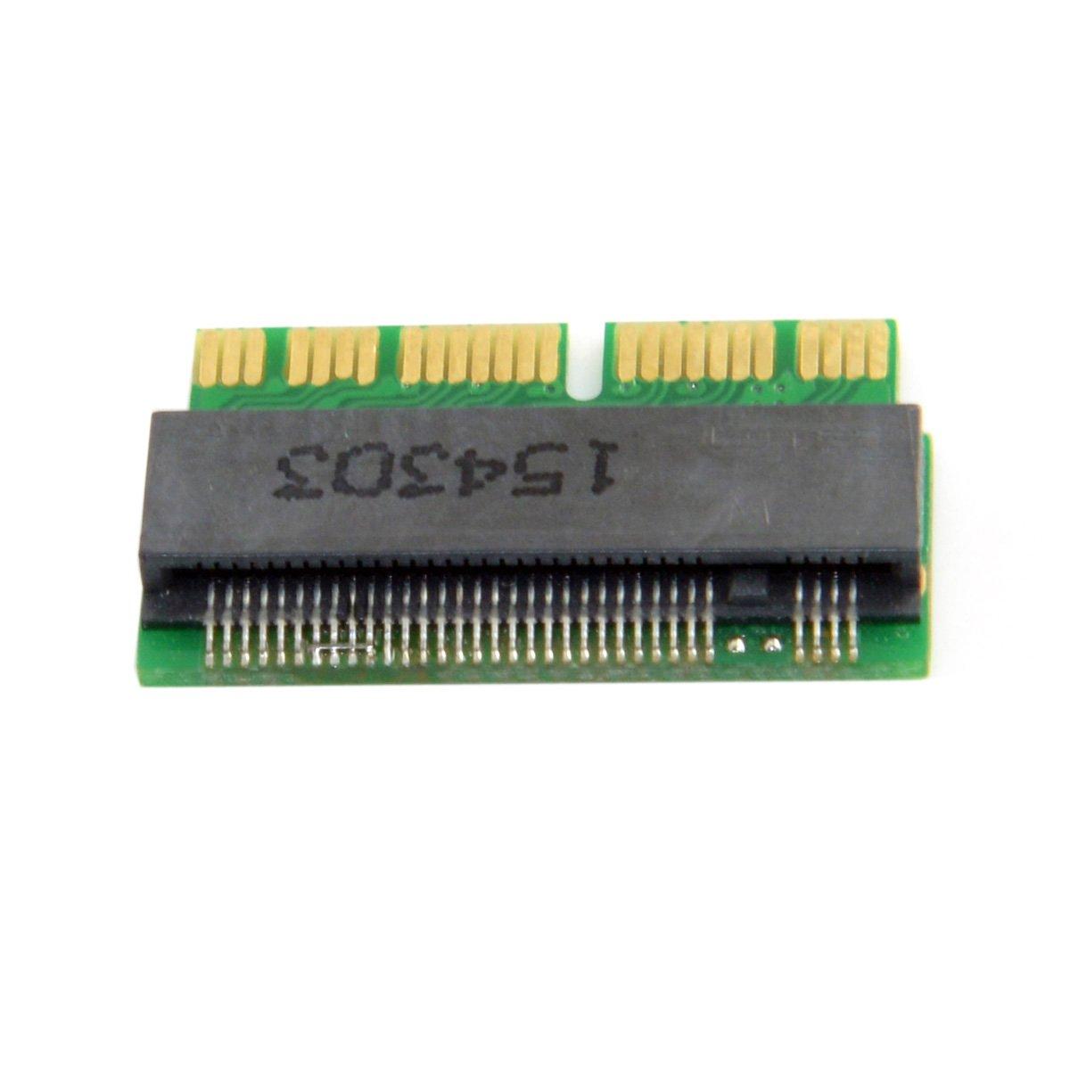 16pin auf M.2 NGFF M-Key AHCI SSD Konvertierungskarte f/ür A1493 A1502 A1465 A1466 CY 12