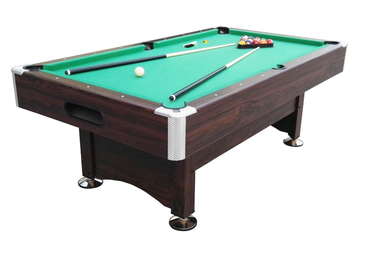 Pool Central B055-7FT Game Table, Brown/Green, 7' x 3.96'