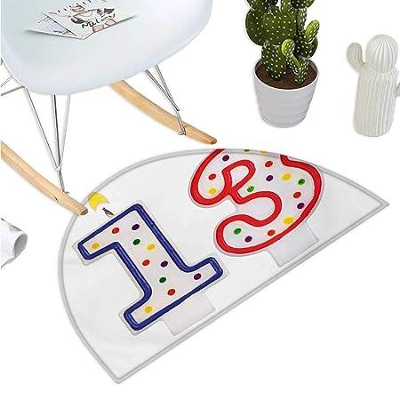 Felpudo semicírculo para 13 cumpleaños, diseño de Tarta con ...