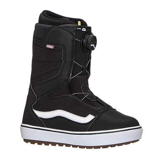 e784f86b1af Vans Aura OG Snowboard Boots UK 9.5 Black White  Amazon.co.uk  Shoes   Bags