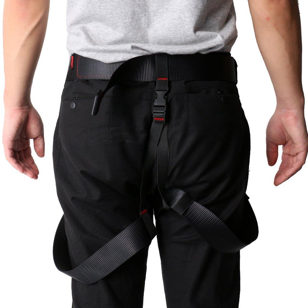 MagiDeal New Rock Climbing Sit Harness 25KN Carabiner 35KN Figure 8 Belay Device