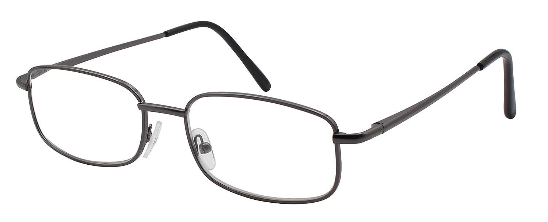 60d95c7a53 TBOC Gafas de Lectura Presbicia Vista Cansada - Graduadas +1.50 Dioptrías  Montura Metálica Gris Titanio Ligera de Diseño Moda para Hombre Mujer  Unisex ...