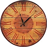 Warm Sunflower Cedar Wall Clock-30''Dia.