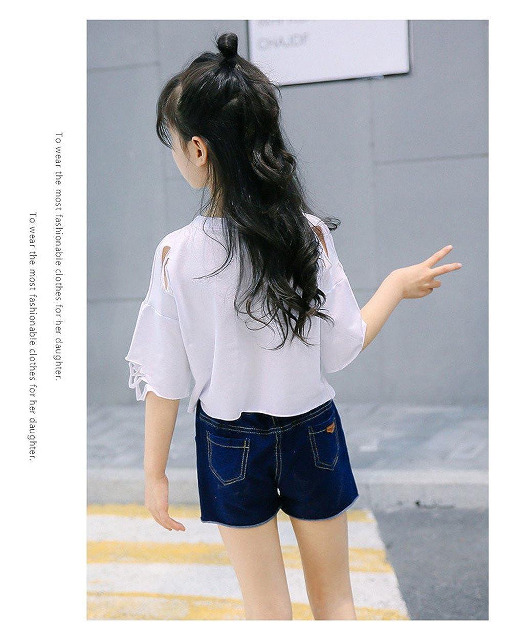 Amazon.com: ftsucq Niñas Trendy letra impresión de la camisa ...