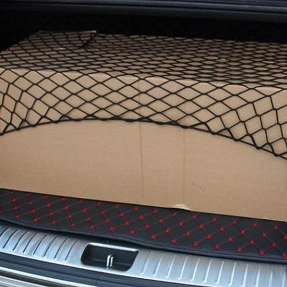 Wakauto Kofferraum-Gep/äcknetz-Organizer Universell Verstellbares Elastisches LKW-Netz mit 4 Haken Langlebiges Kofferraumnetz f/ür PKW-LKW 95 * 65 cm