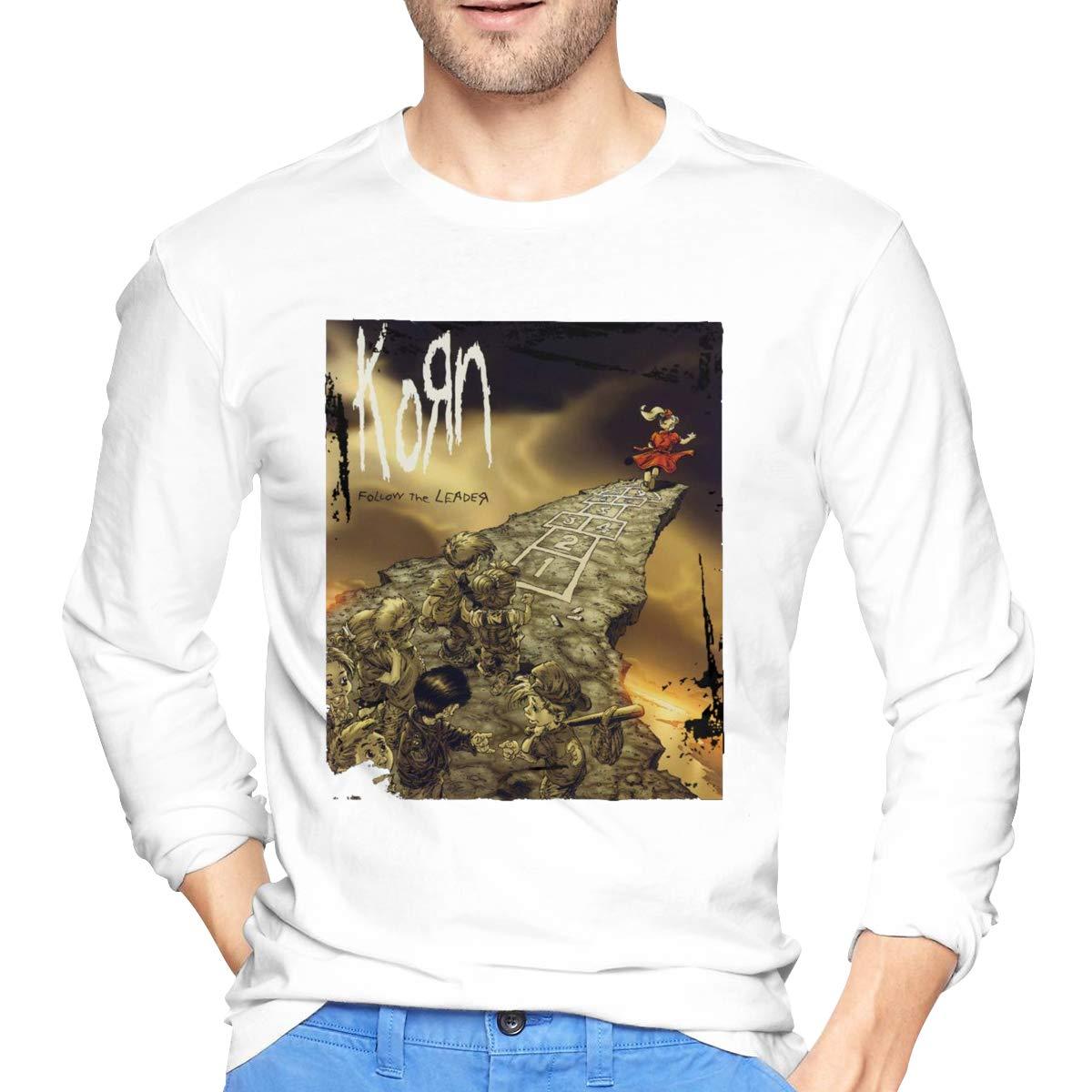 S Korn Follow The Leader Tshirt Round Neck Fashion Tee Black