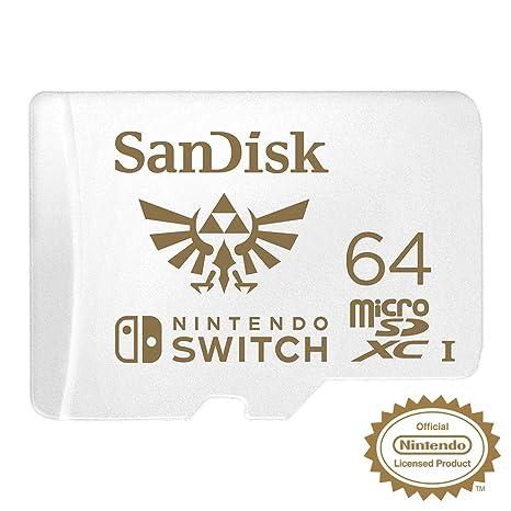 SanDisk - Tarjeta microSDXC de 64GB para Nintendo Switch