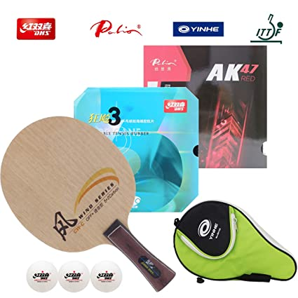 DHS Hand Assembled Professional Table Tennis Racket - Professional Ping Pong Racket Combination CW-C