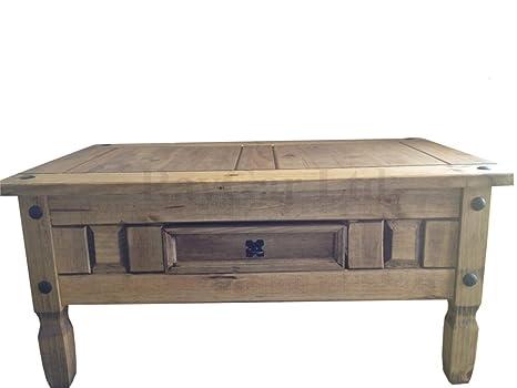 super populaire f4946 5e467 RayGar® Corona Table Basse avec 1 tiroir en Bois Massif ...