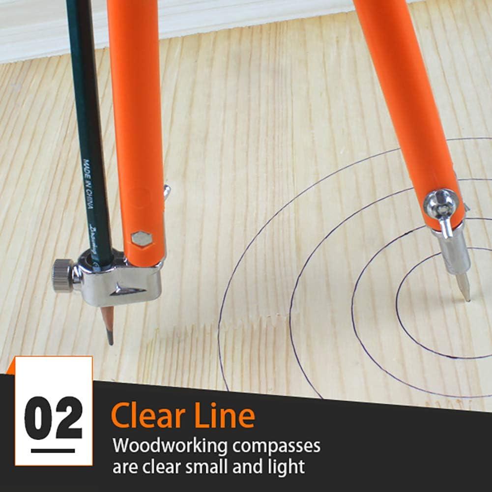 90 cm di diametro Bussola da falegname rosso TREA2SURE divisori regolabili per la lavorazione del legno