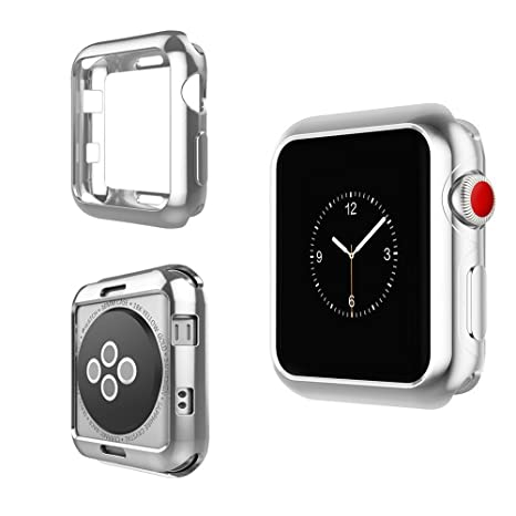 IvyLife Funda para Apple Watch 42mm Carcasa para iWatch Serie 3/2/1 Funda Suave para iWatch, Carcasa Protección de Pantalla de Apple Watch, TPU ...